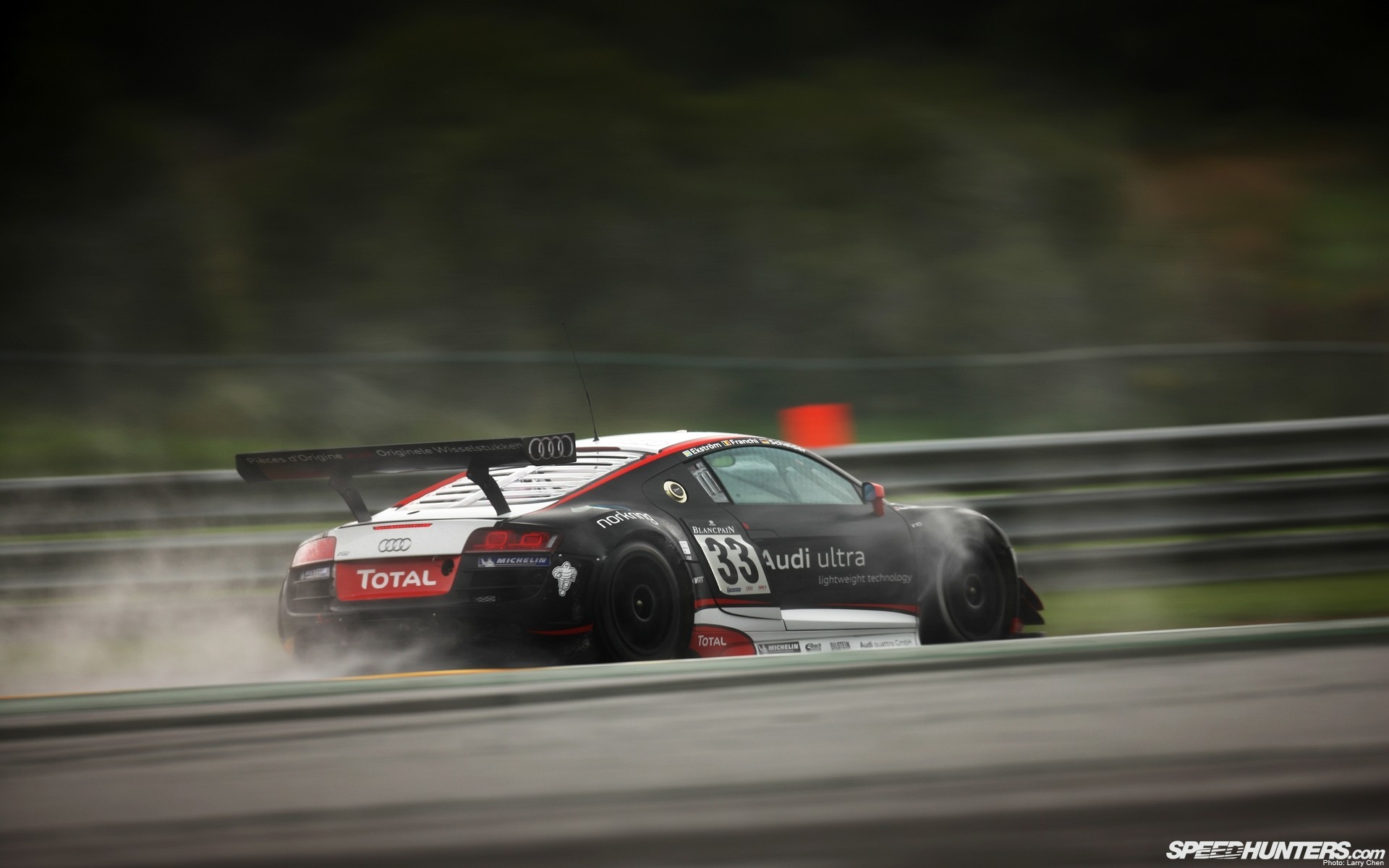 track wet audi r8 racing racing cars HD Wallpaper