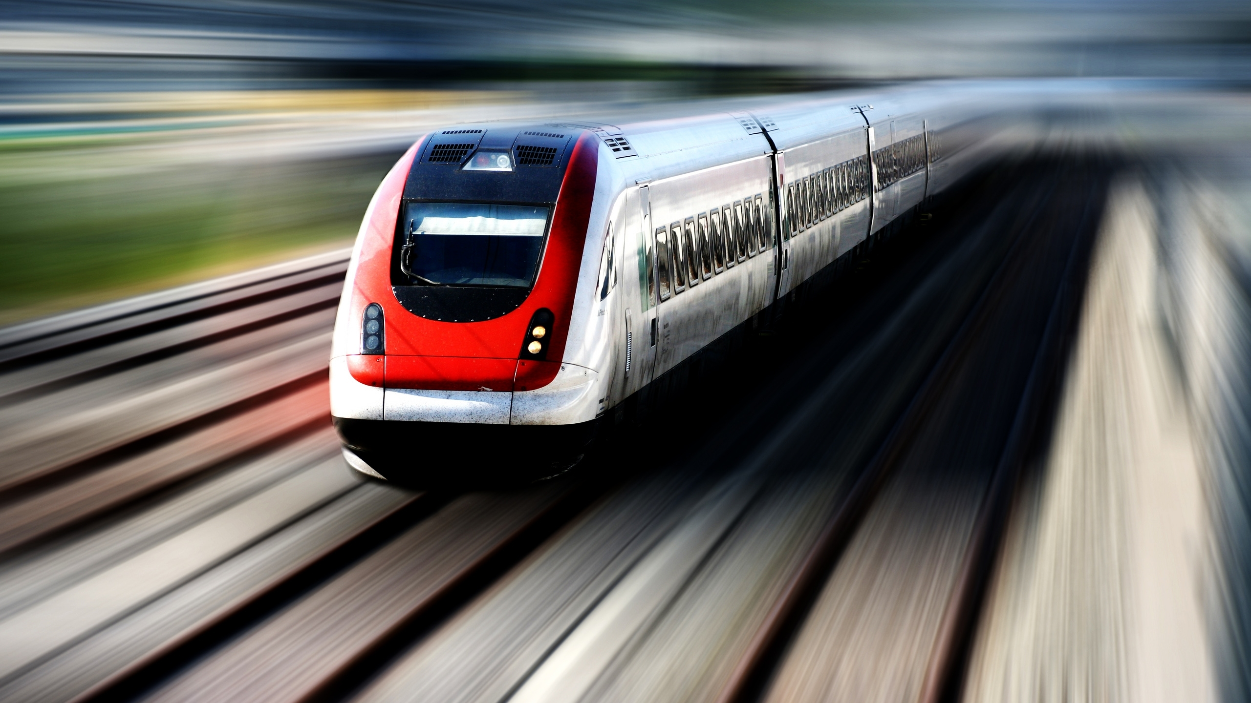 trains motion blur HD Wallpaper