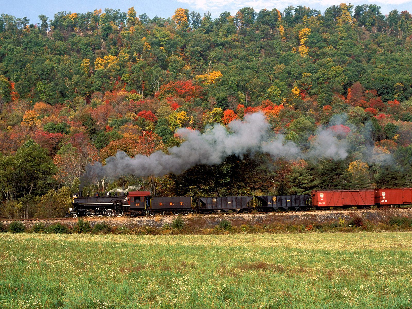 trains railroad tracks steam HD Wallpaper