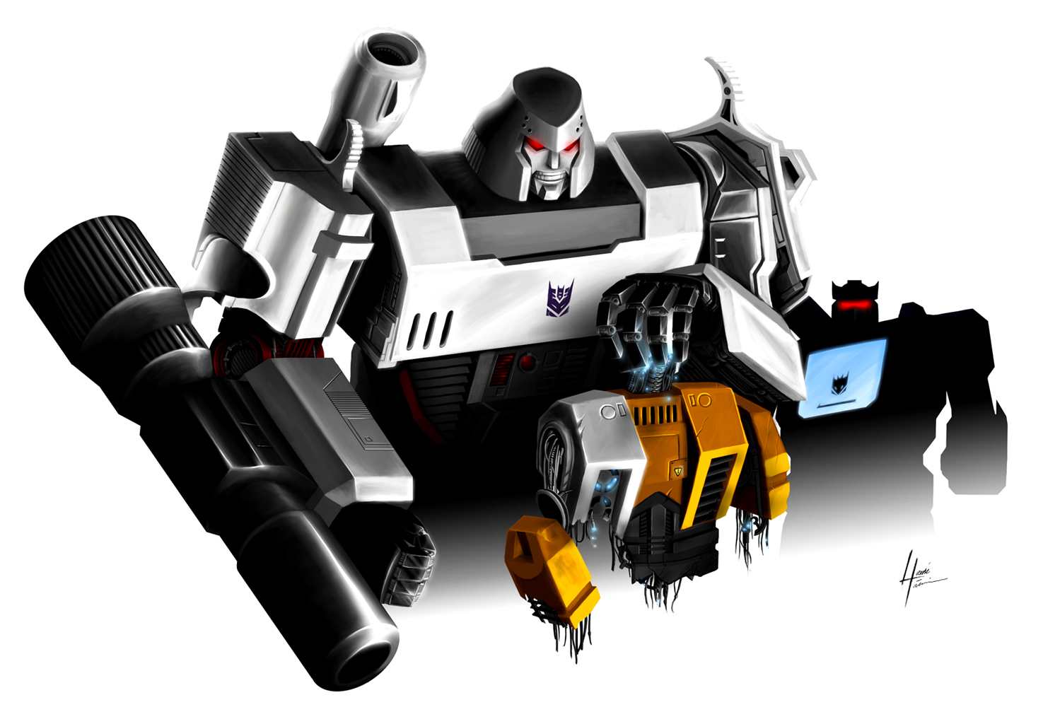 transformer Megatron Art HD Wallpaper