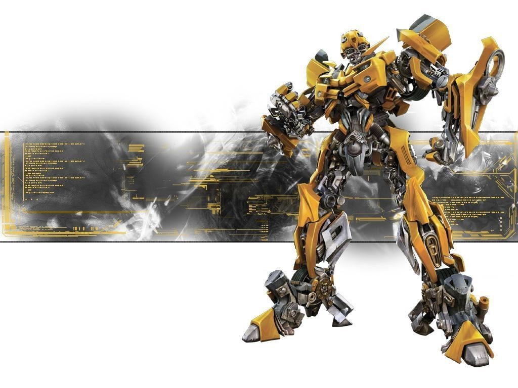Transformers bumblebee white background HD Wallpaper