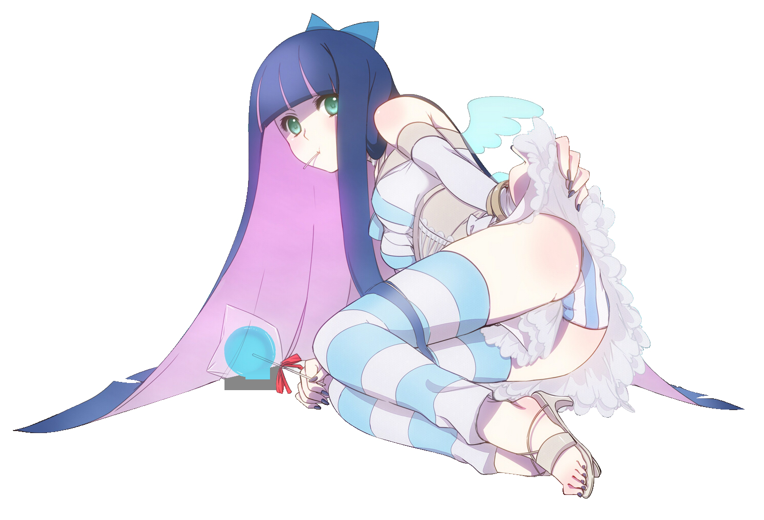 transparent panty and stocking HD Wallpaper