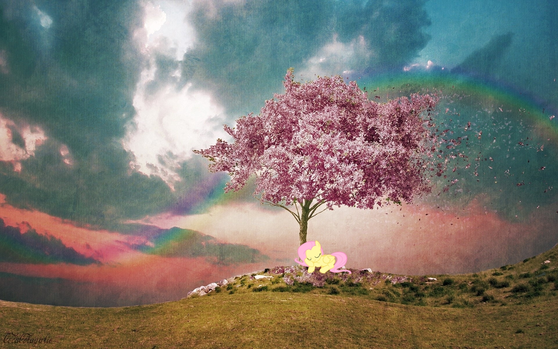 Trees Photo manipulation HD Wallpaper