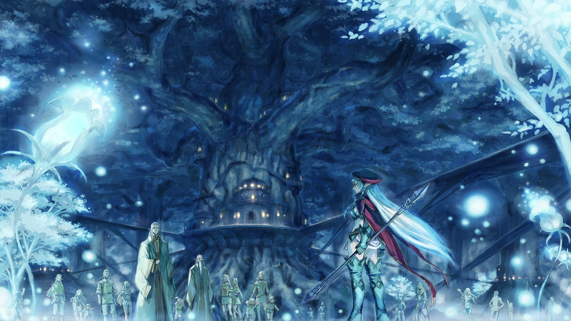 Trees Queens blade elves HD Wallpaper
