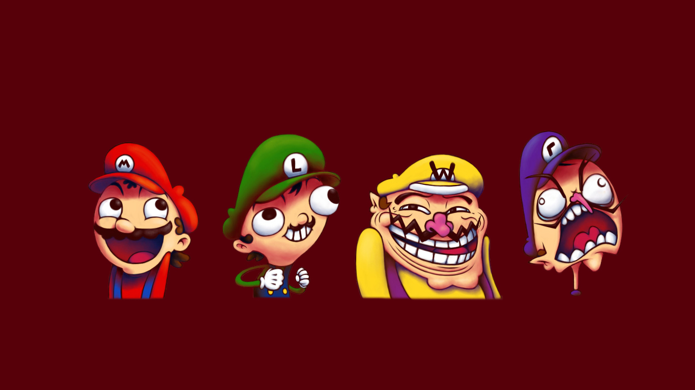 Trollface Mario Meme Luigi