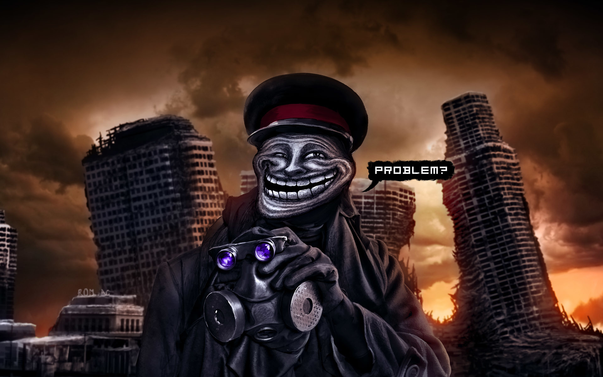 trollface Trolls romantically apocalyptic HD Wallpaper