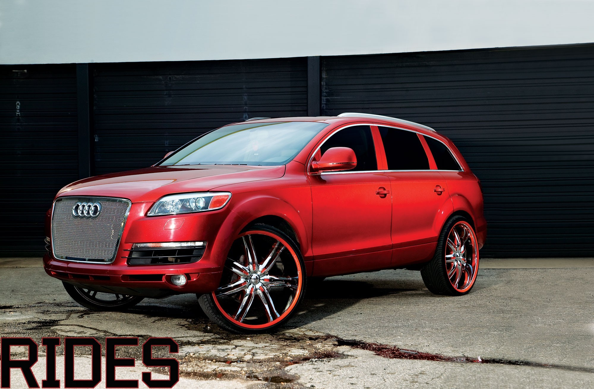 tuning wheels red cars HD Wallpaper