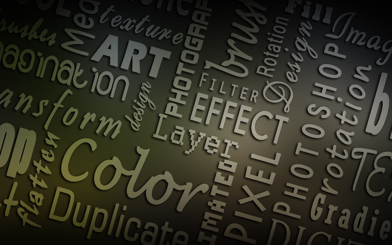 Typography adobe effects HD Wallpaper