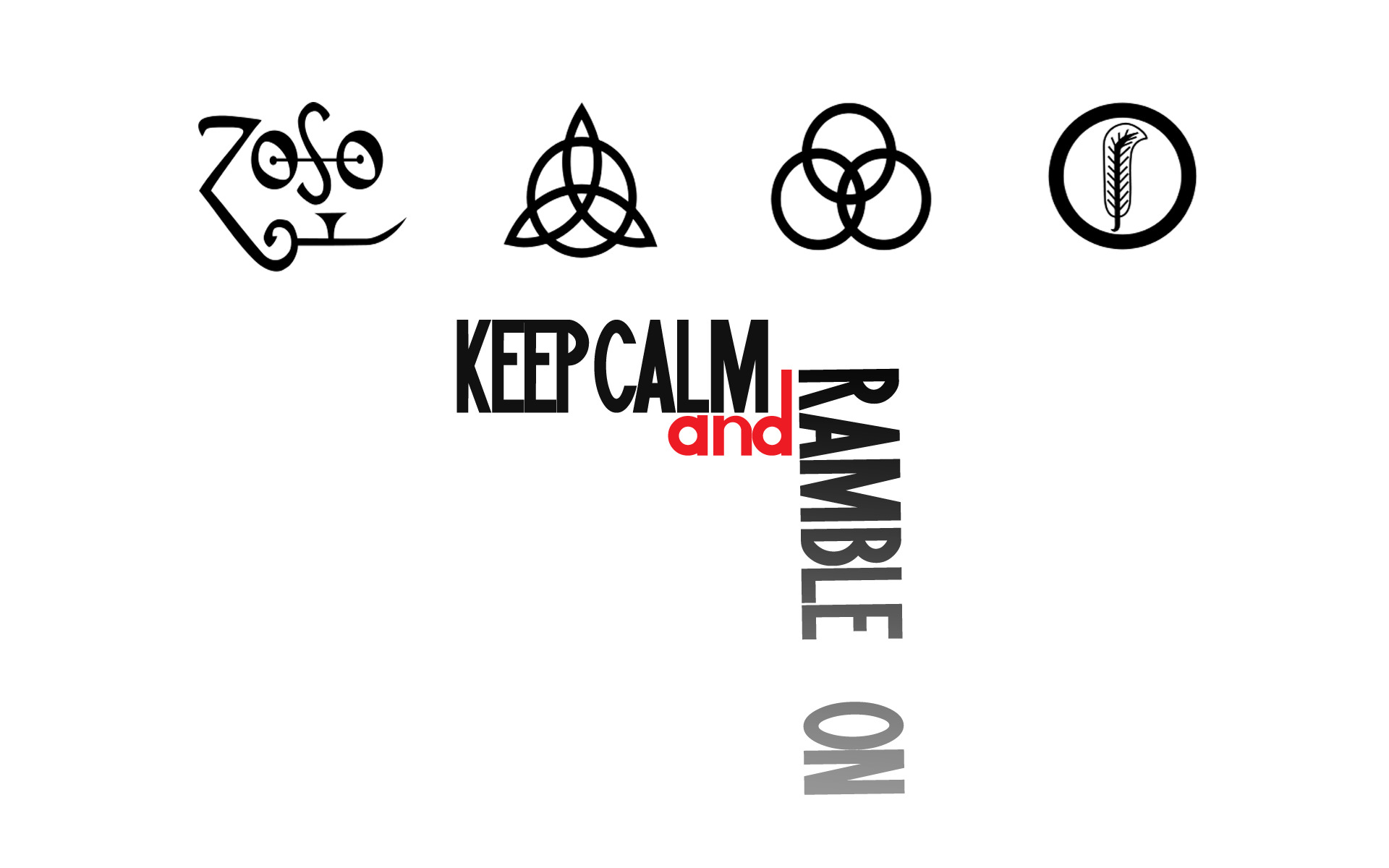Typography keep calm and HD Wallpaper