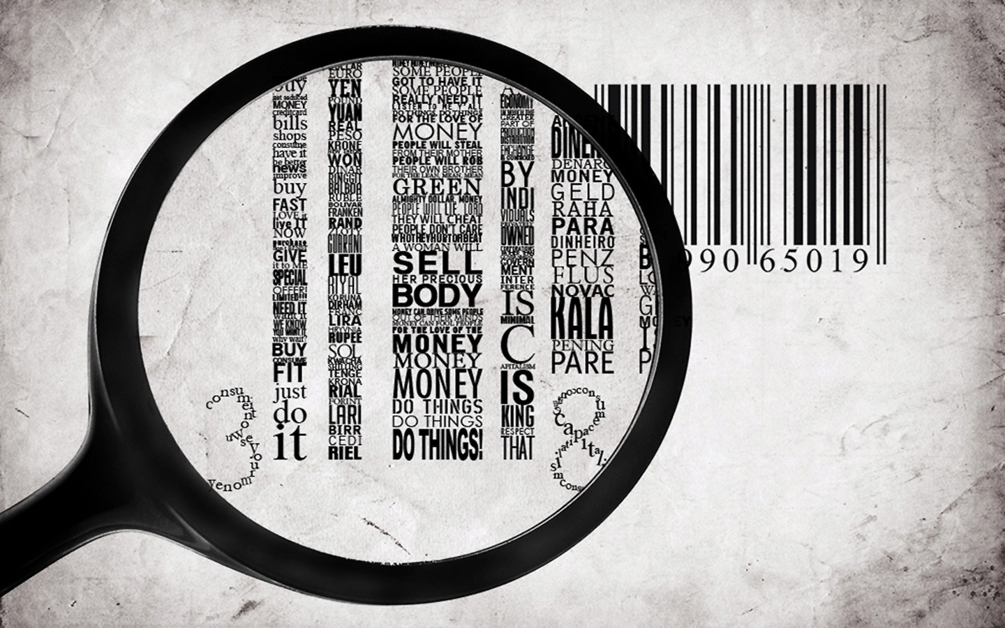 Typography numbers barcode facts HD Wallpaper