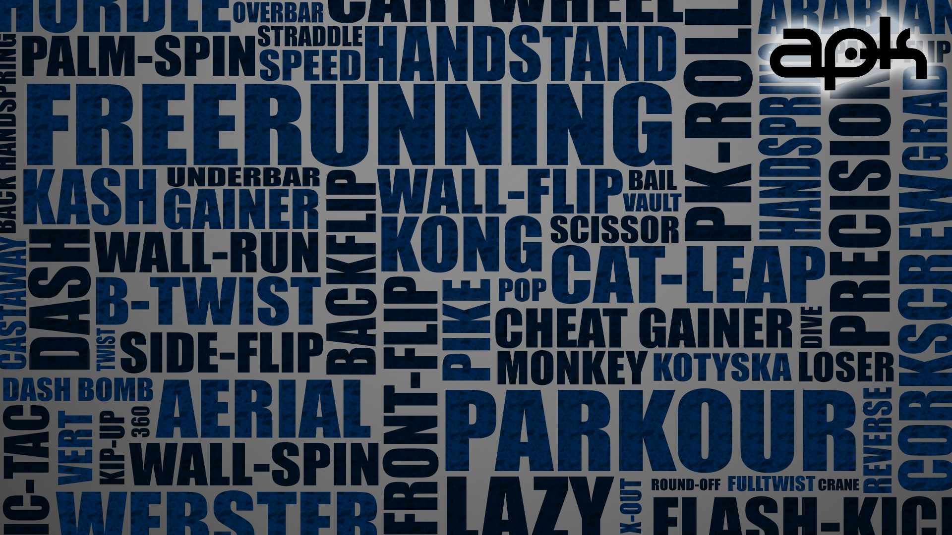 Typography parkour HD Wallpaper