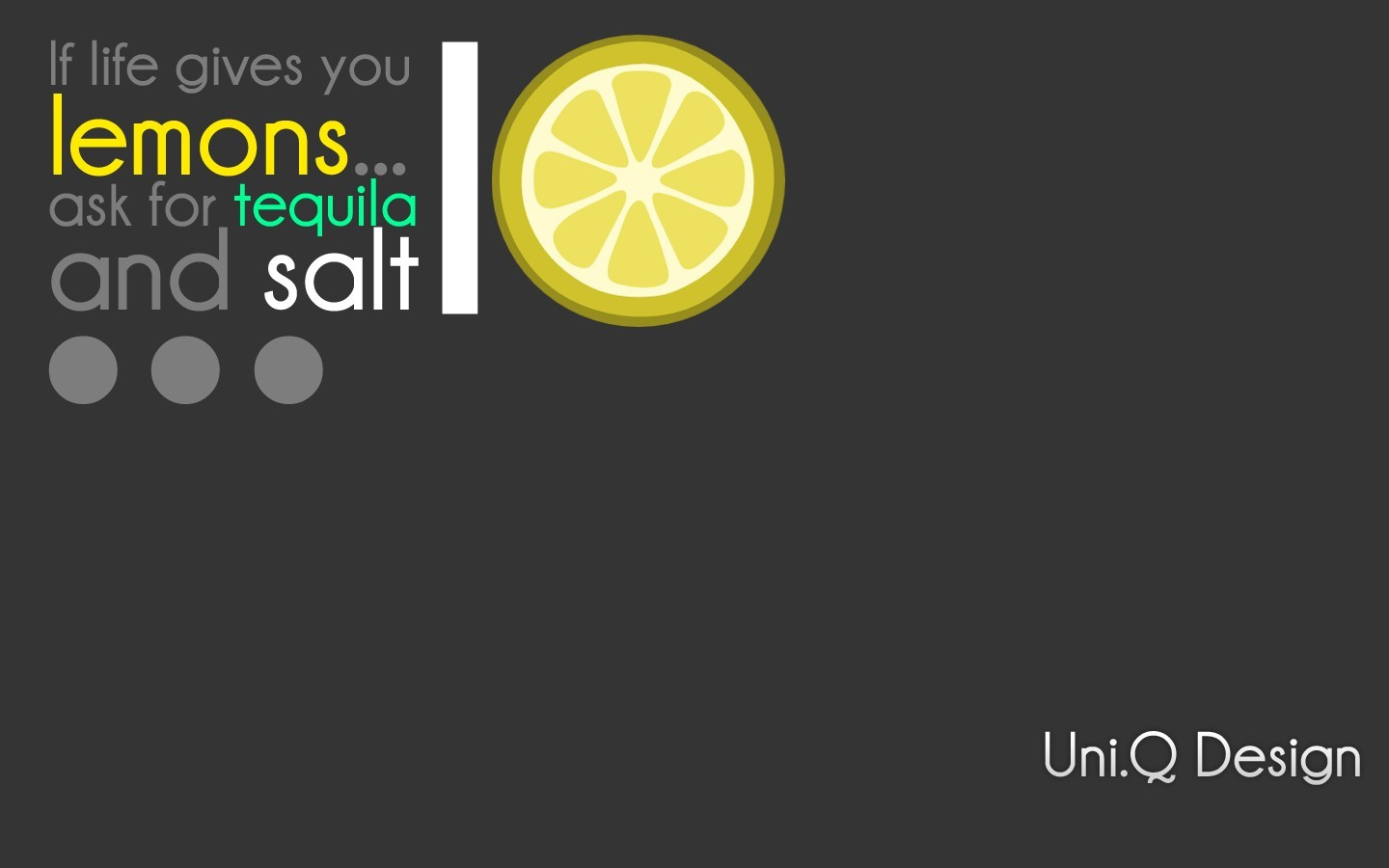 Typography Salt tequila lemons HD Wallpaper
