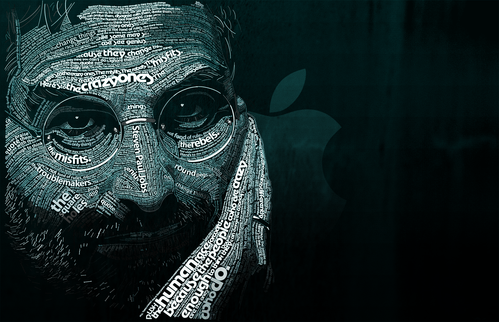 Typography Steve Jobs typographic HD Wallpaper