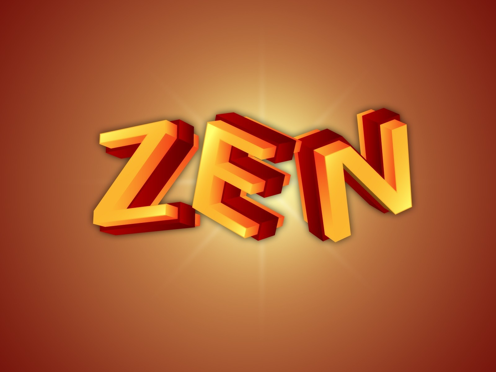 Typography Zen Syn.Hider HD Wallpaper