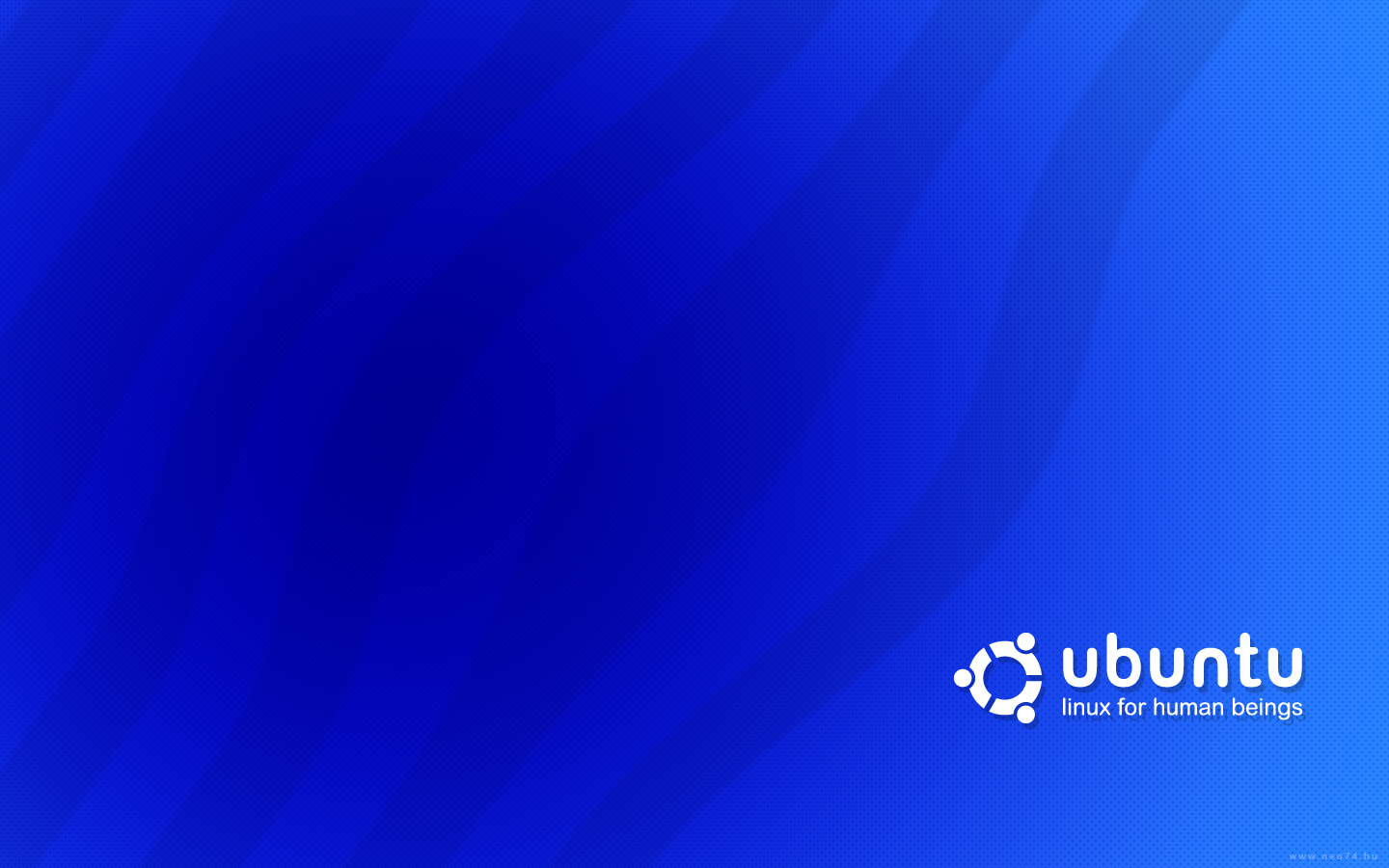 ubuntu blue by neo HD Wallpaper