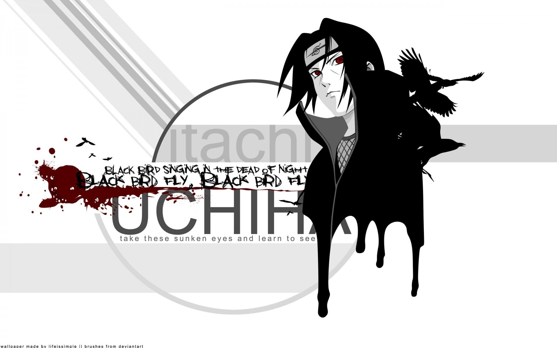 Uchiha Itachi Crows Naruto