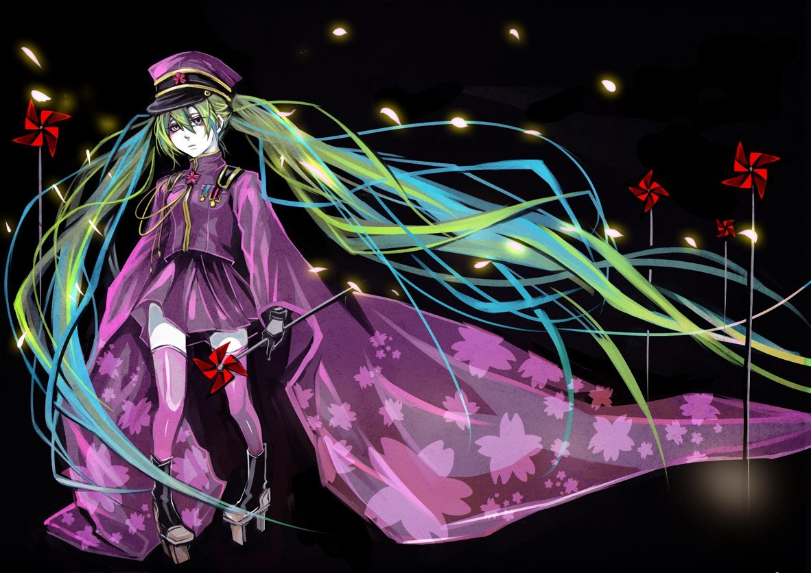 uniforms vocaloid military hatsune HD Wallpaper