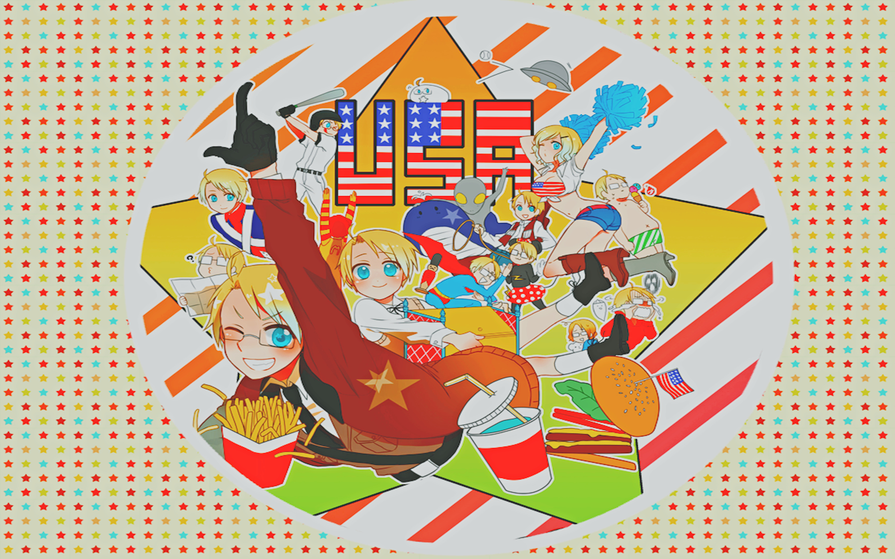 USA Anime axis Powers HD Wallpaper
