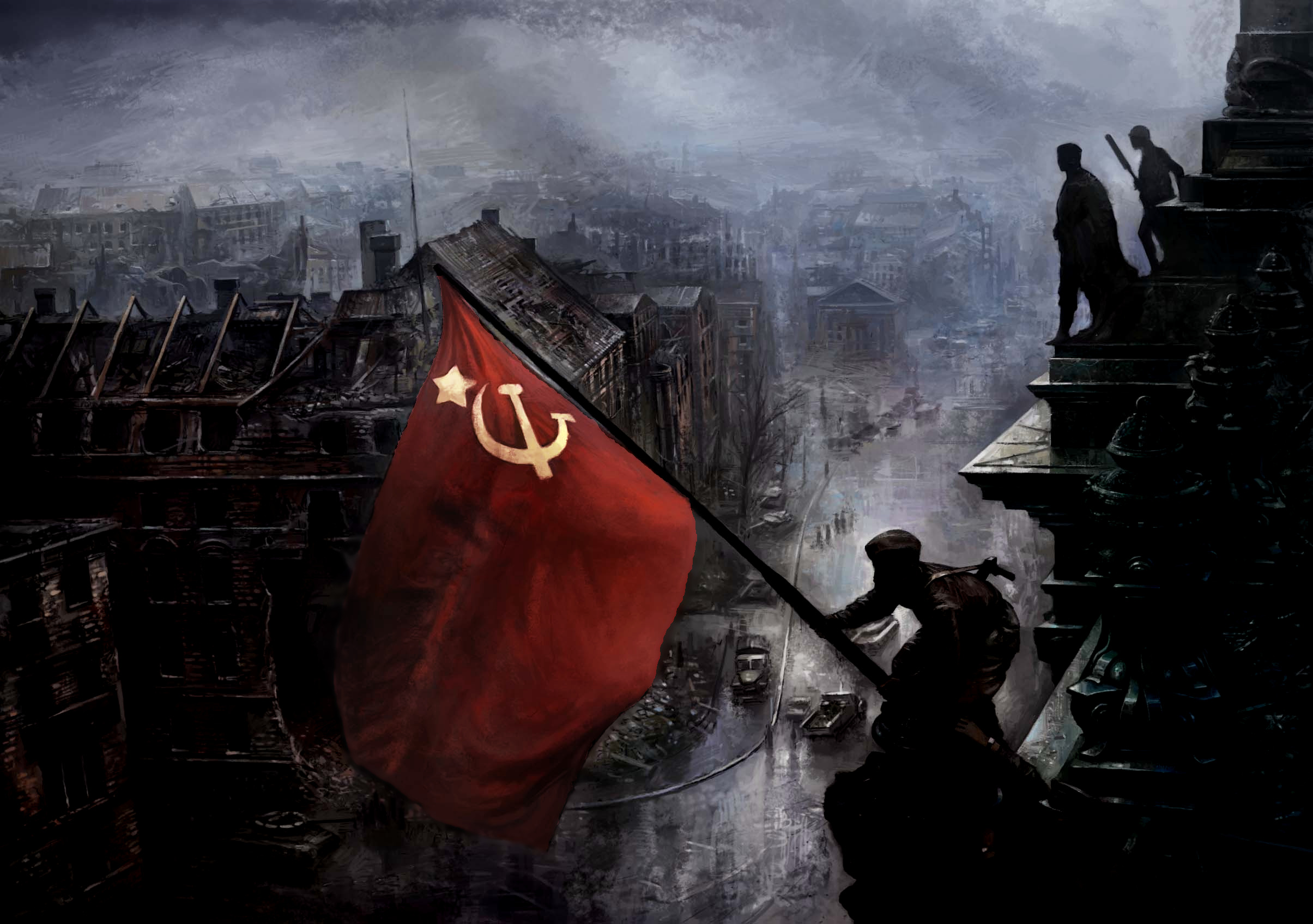 USSR Berlin World War HD Wallpaper
