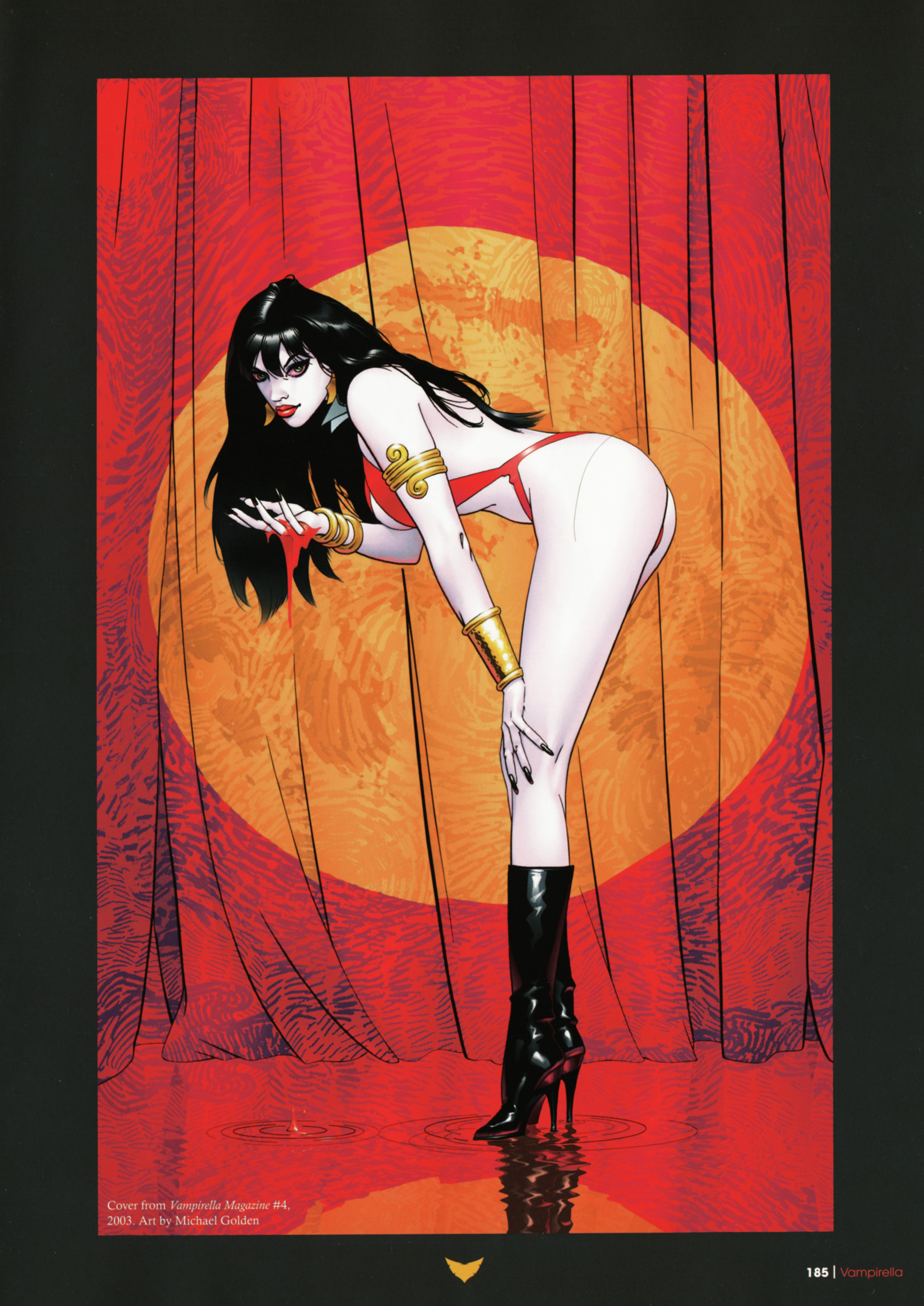 Vampirella bent over curtains HD Wallpaper