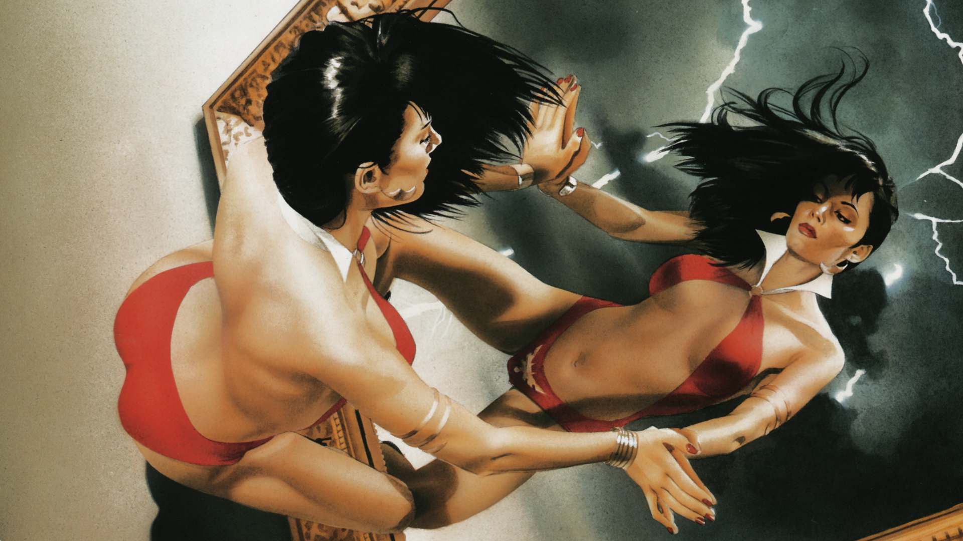 Vampirella comics girls HD Wallpaper