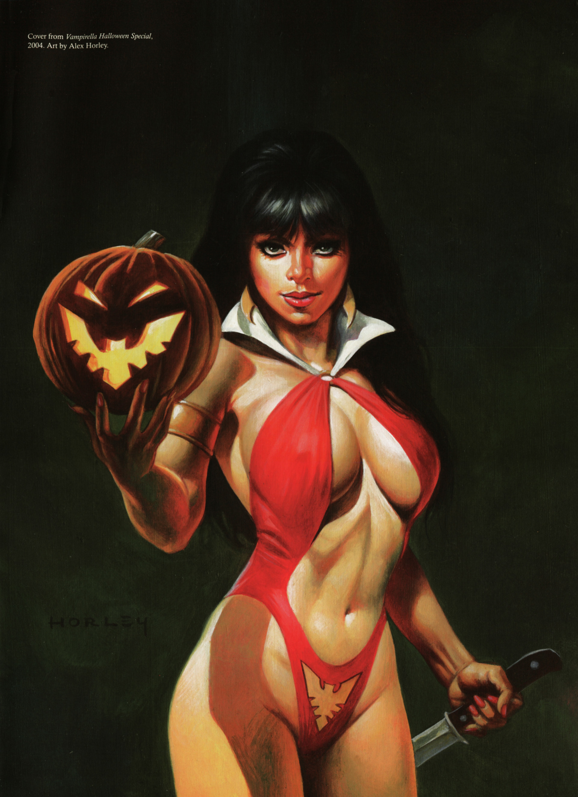 Vampirella underboobs pumpkins HD Wallpaper