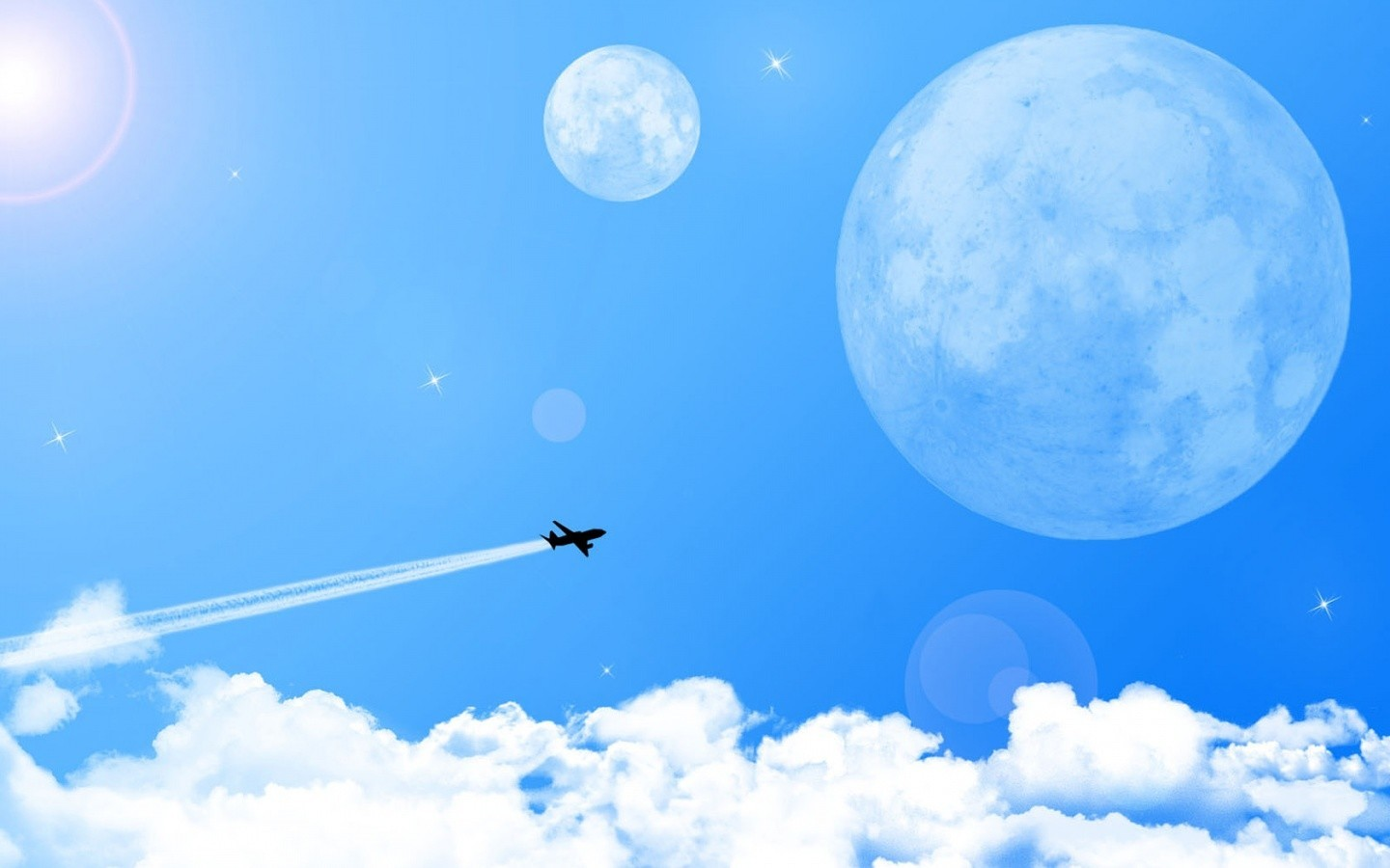 vectors planes skyscapes HD Wallpaper