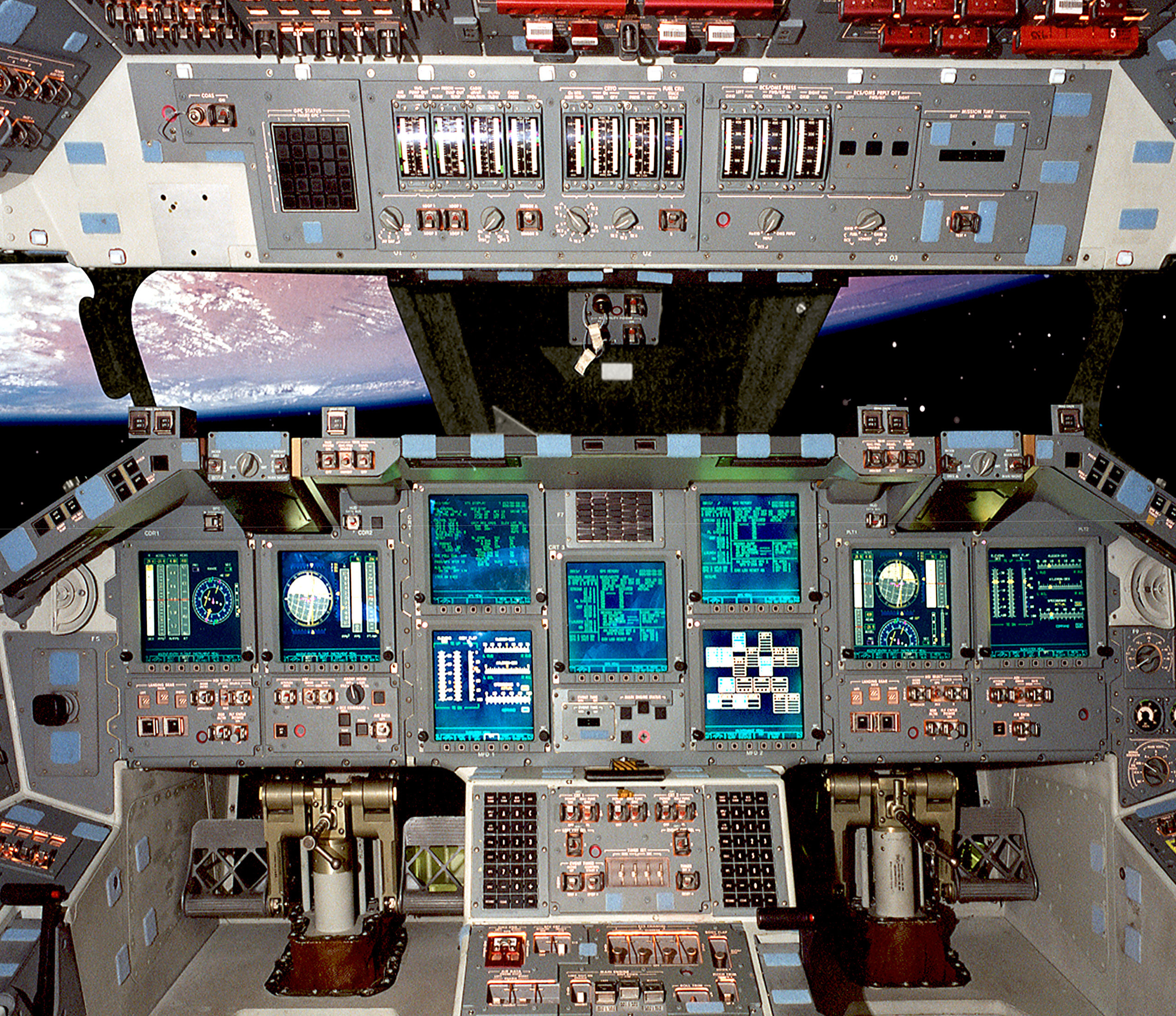 vehicle Space shuttle cockpit HD Wallpaper