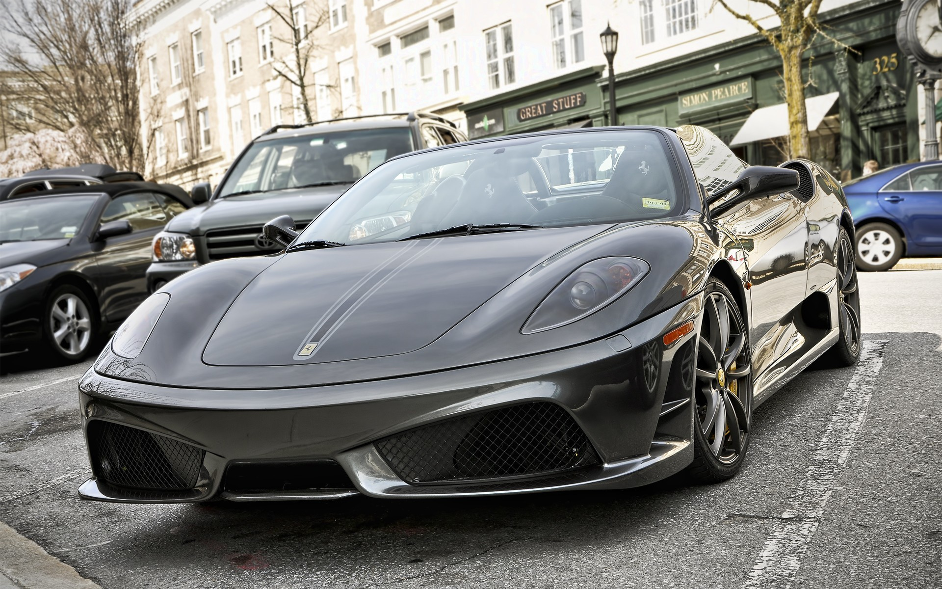 vehicles black cars ferrari HD Wallpaper