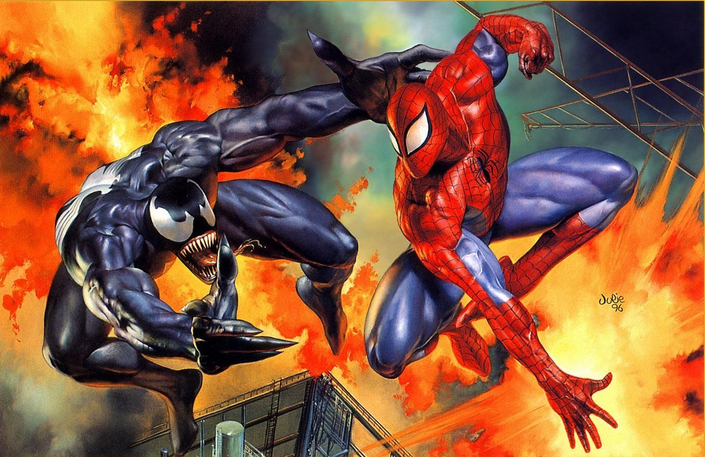 Venom Spider-Man marvel comics HD Wallpaper
