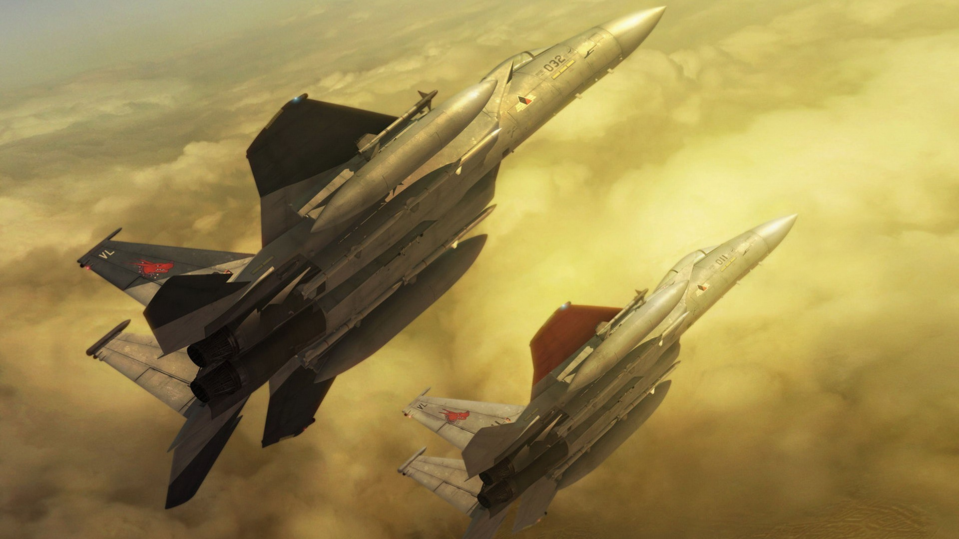 video games Aircraft 3d HD Wallpaper