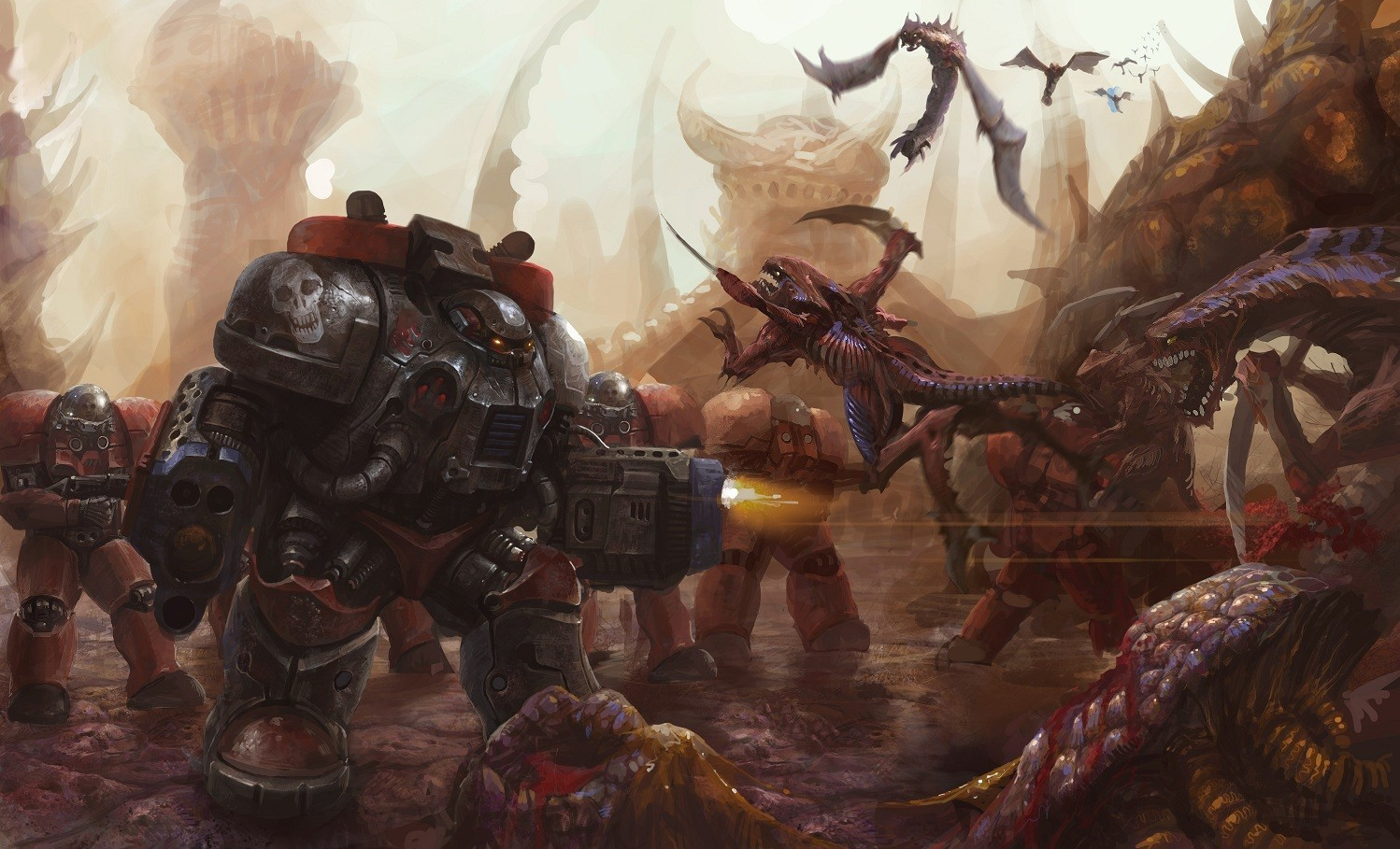 video games artistic Zerg HD Wallpaper