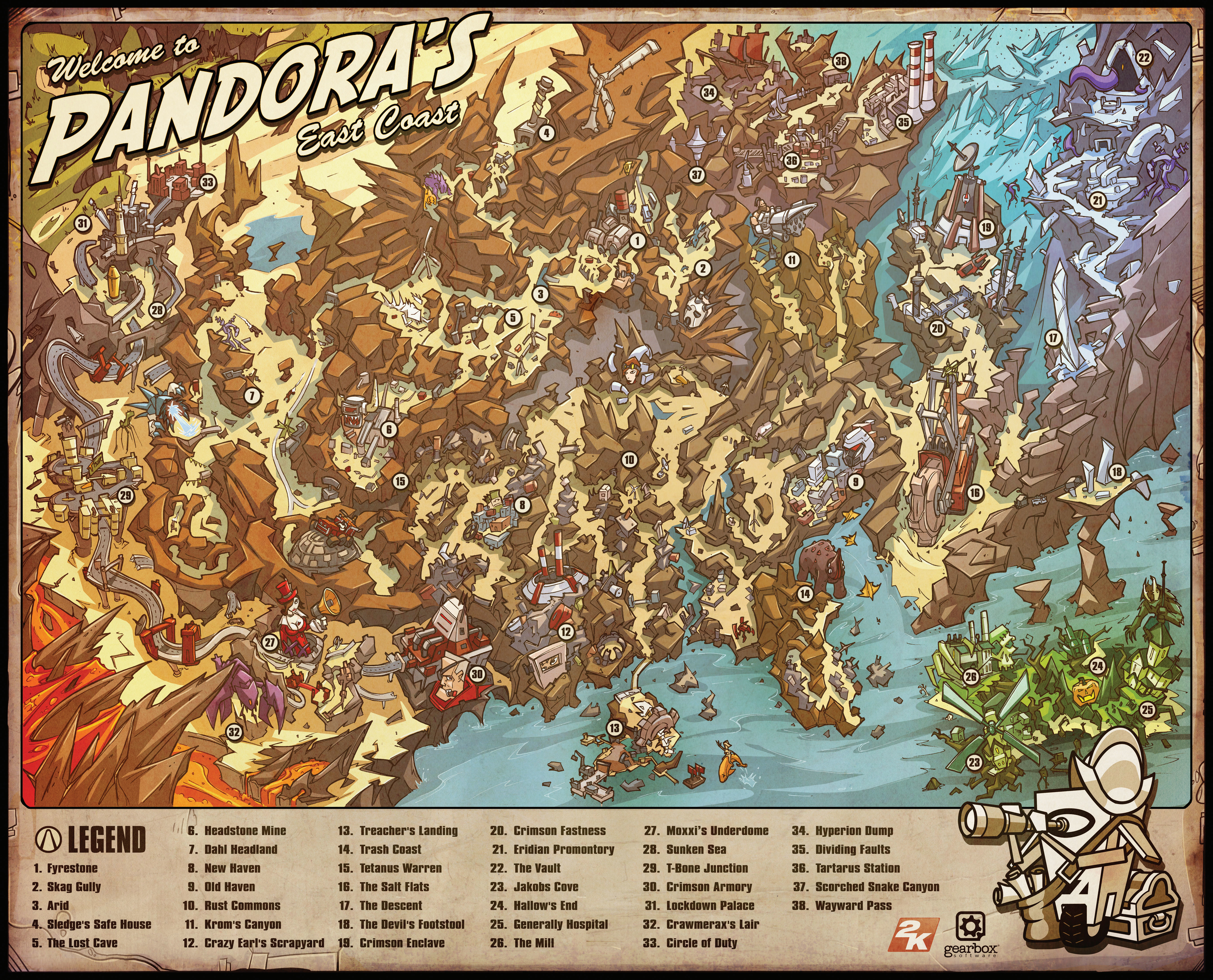 video games borderlands Maps HD Wallpaper