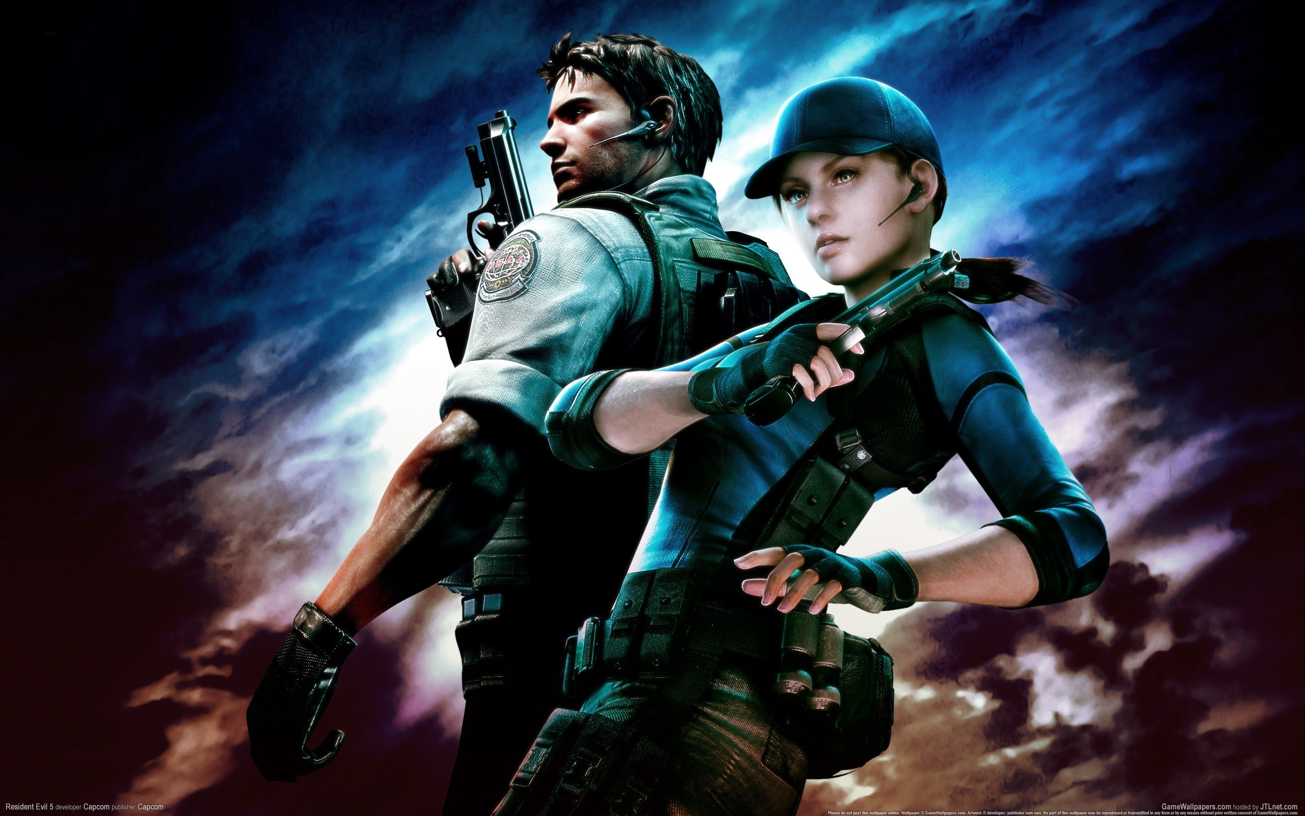 video games Chris Redfield HD Wallpaper