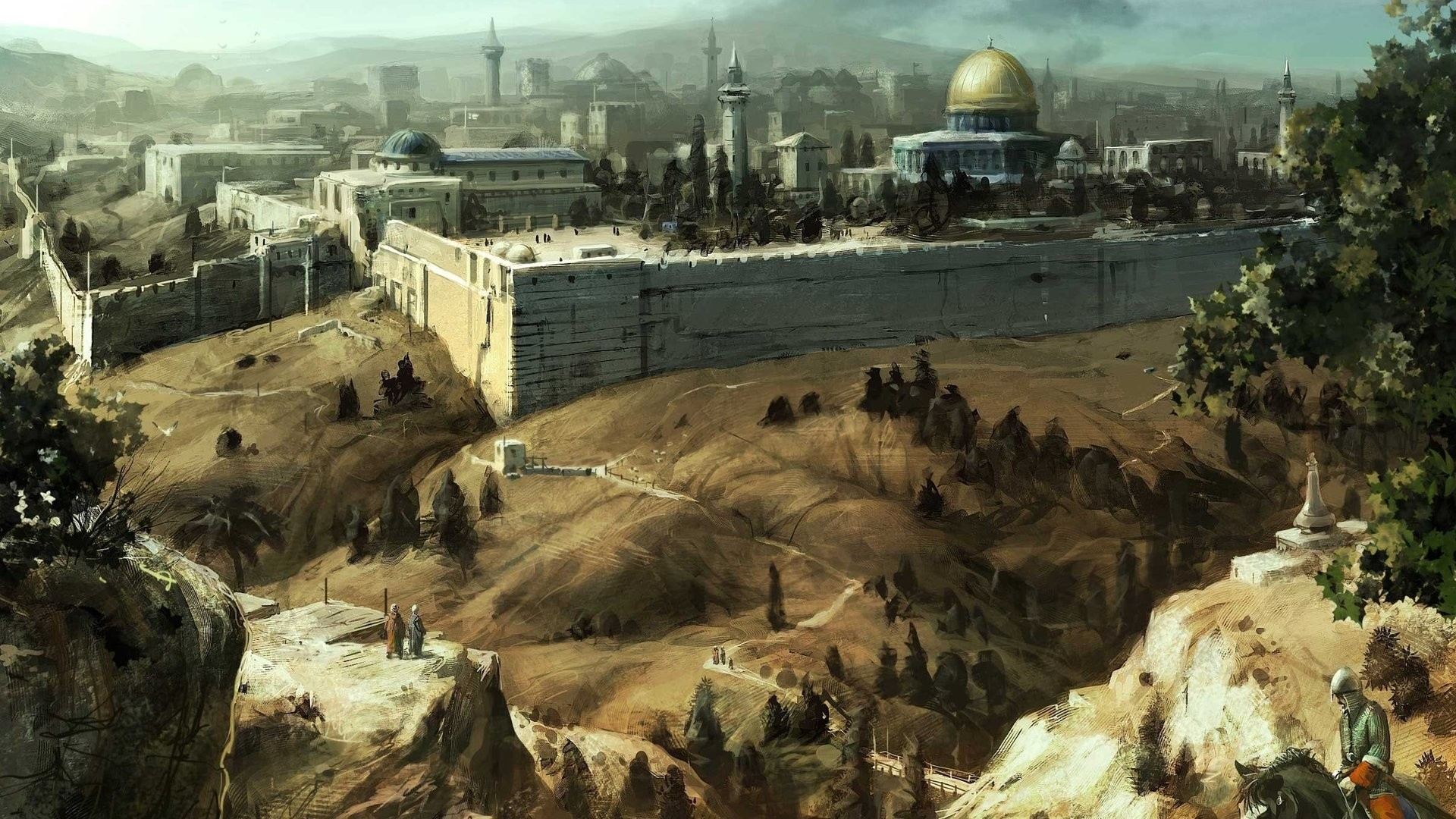 video games cityscapes Jerusalem HD Wallpaper