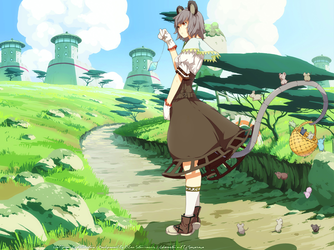 video games clouds touhou HD Wallpaper