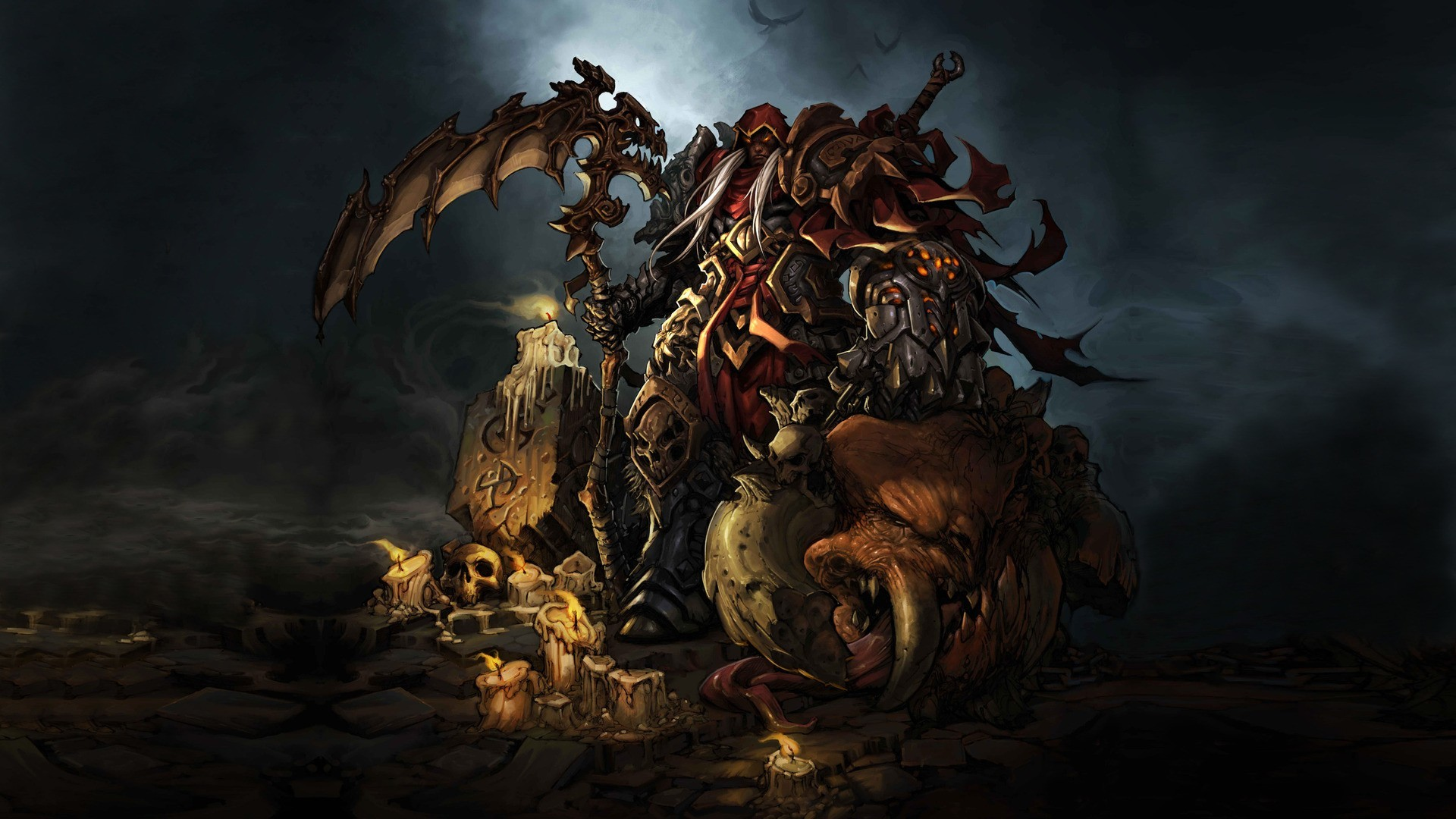 video games darksiders artwork HD Wallpaper