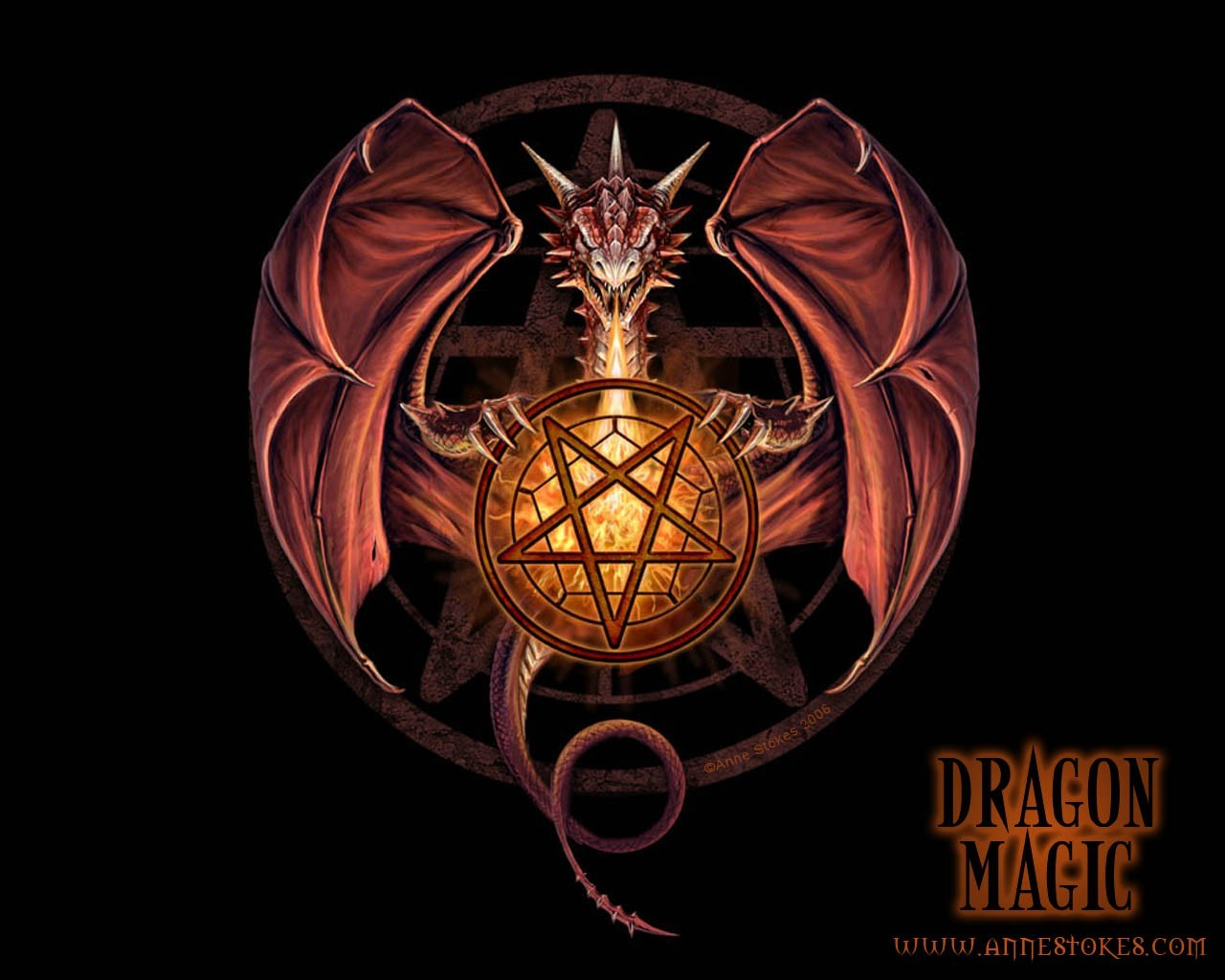 video games Dragons pentagram
