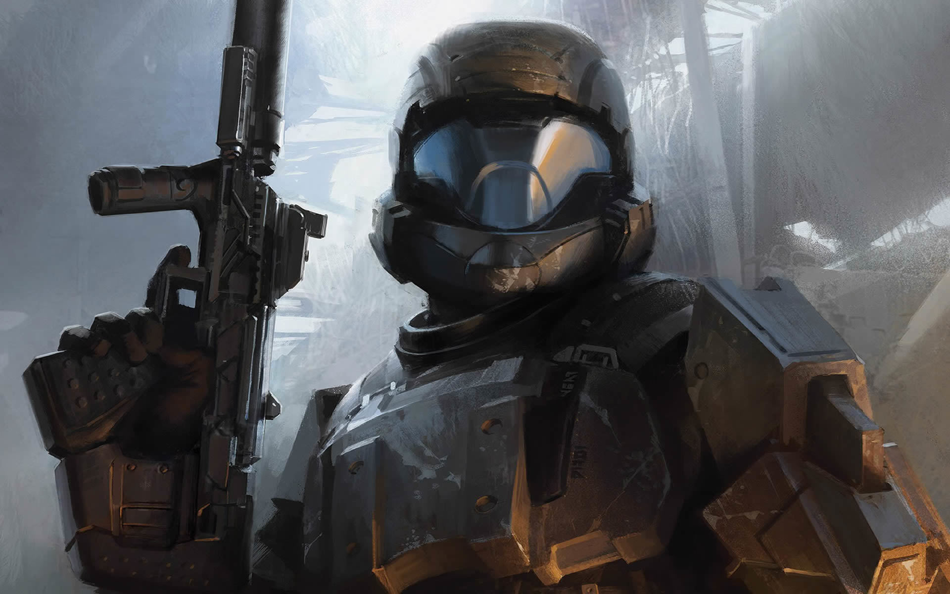 video games halo weapons HD Wallpaper