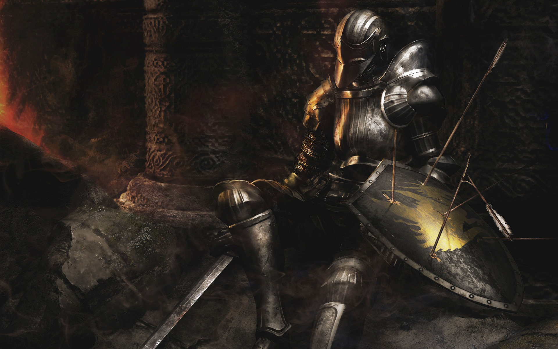 video games Knights weapons HD Wallpaper