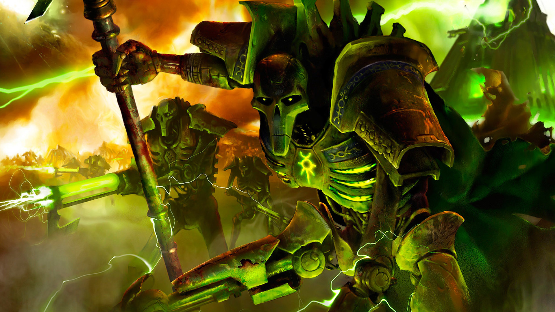 video games Necrons HD Wallpaper