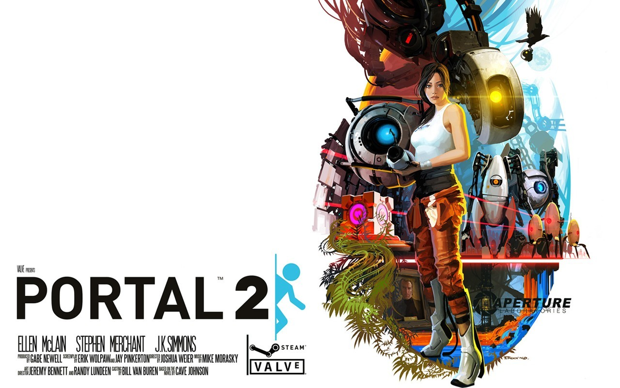 video games portal 2 HD Wallpaper