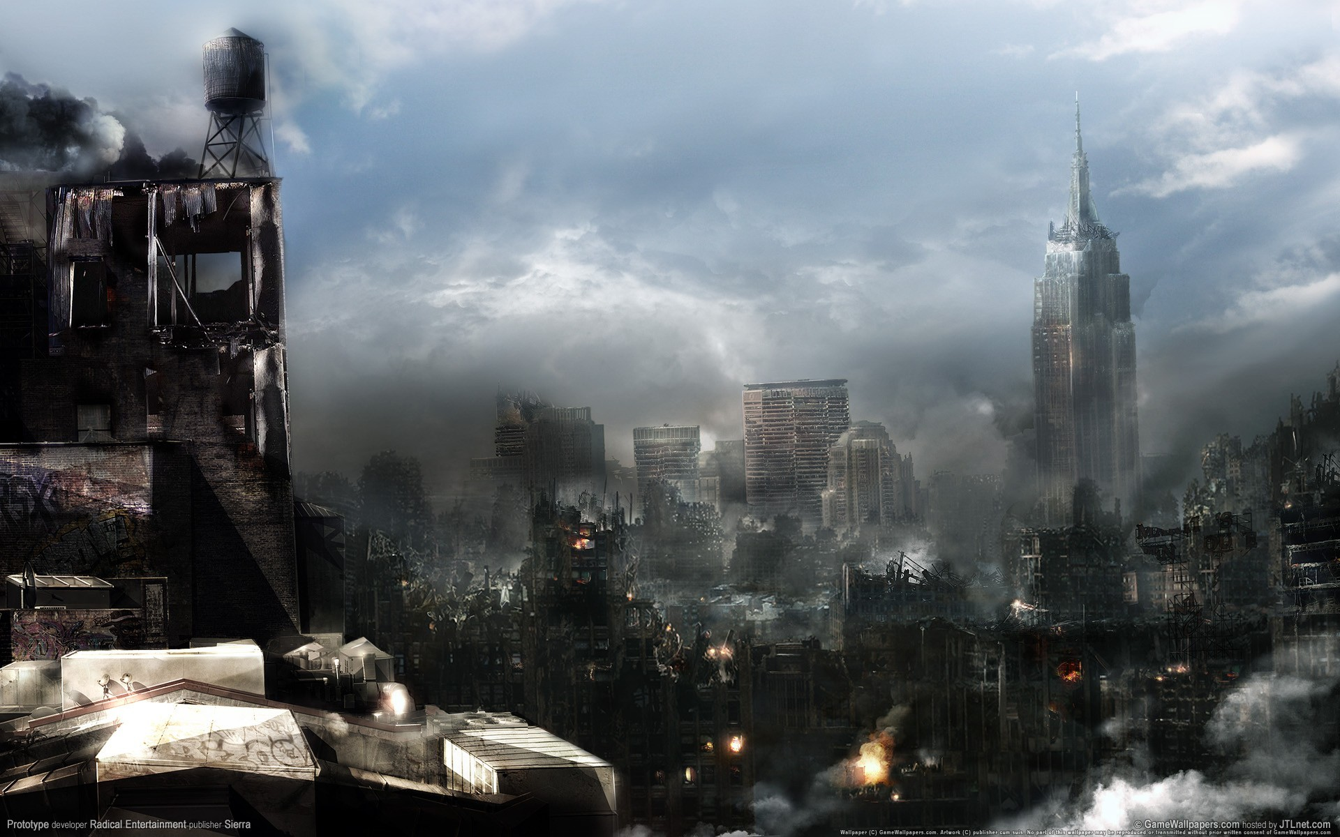 video games ruins cityscapes HD Wallpaper