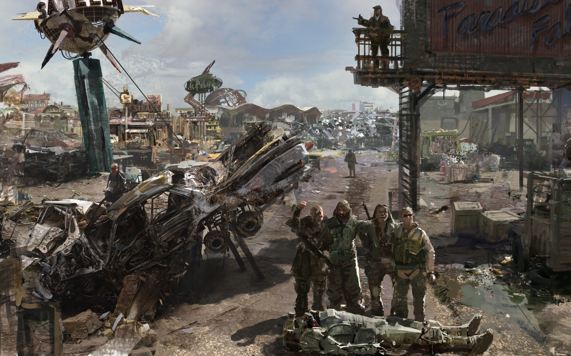 video games ruins post-apocalyptic HD Wallpaper