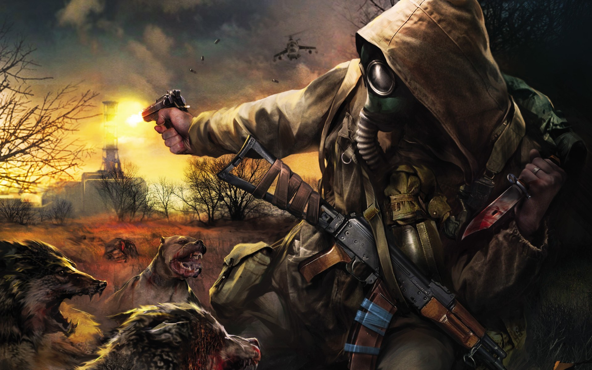 video games S.T.A.L.K.E.R. blood HD Wallpaper