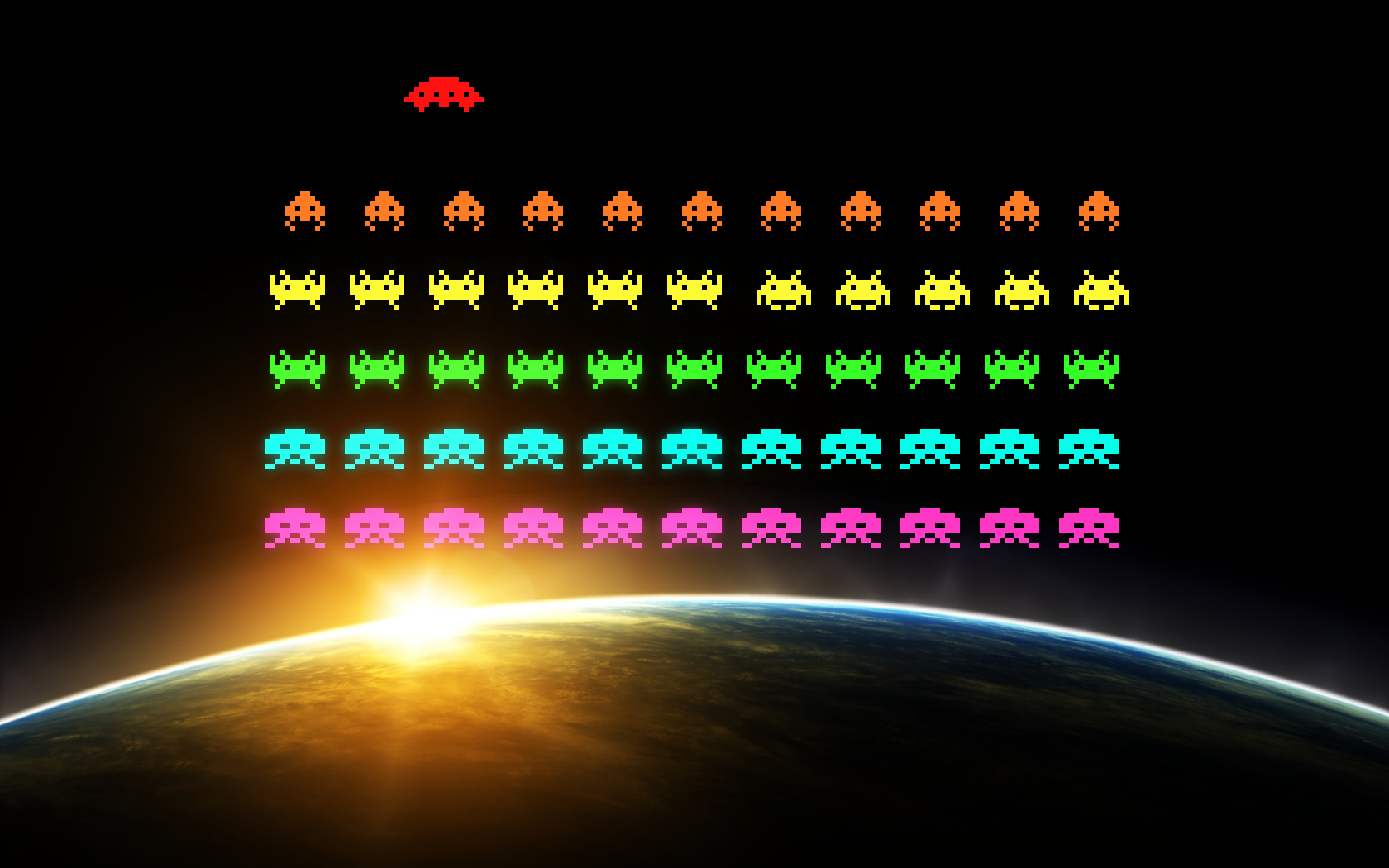video games Space Invaders HD Wallpaper