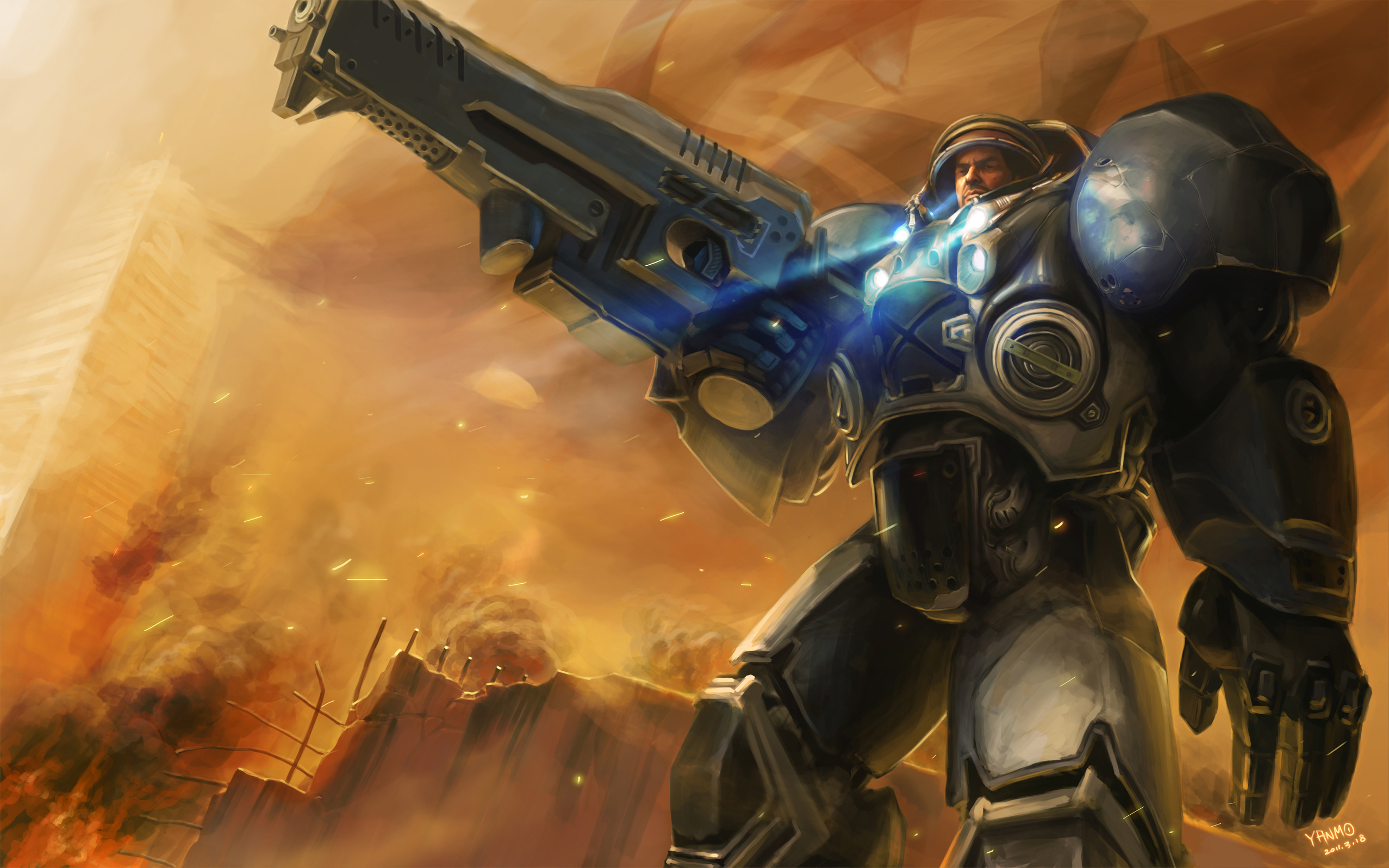 video games starcraft Space HD Wallpaper