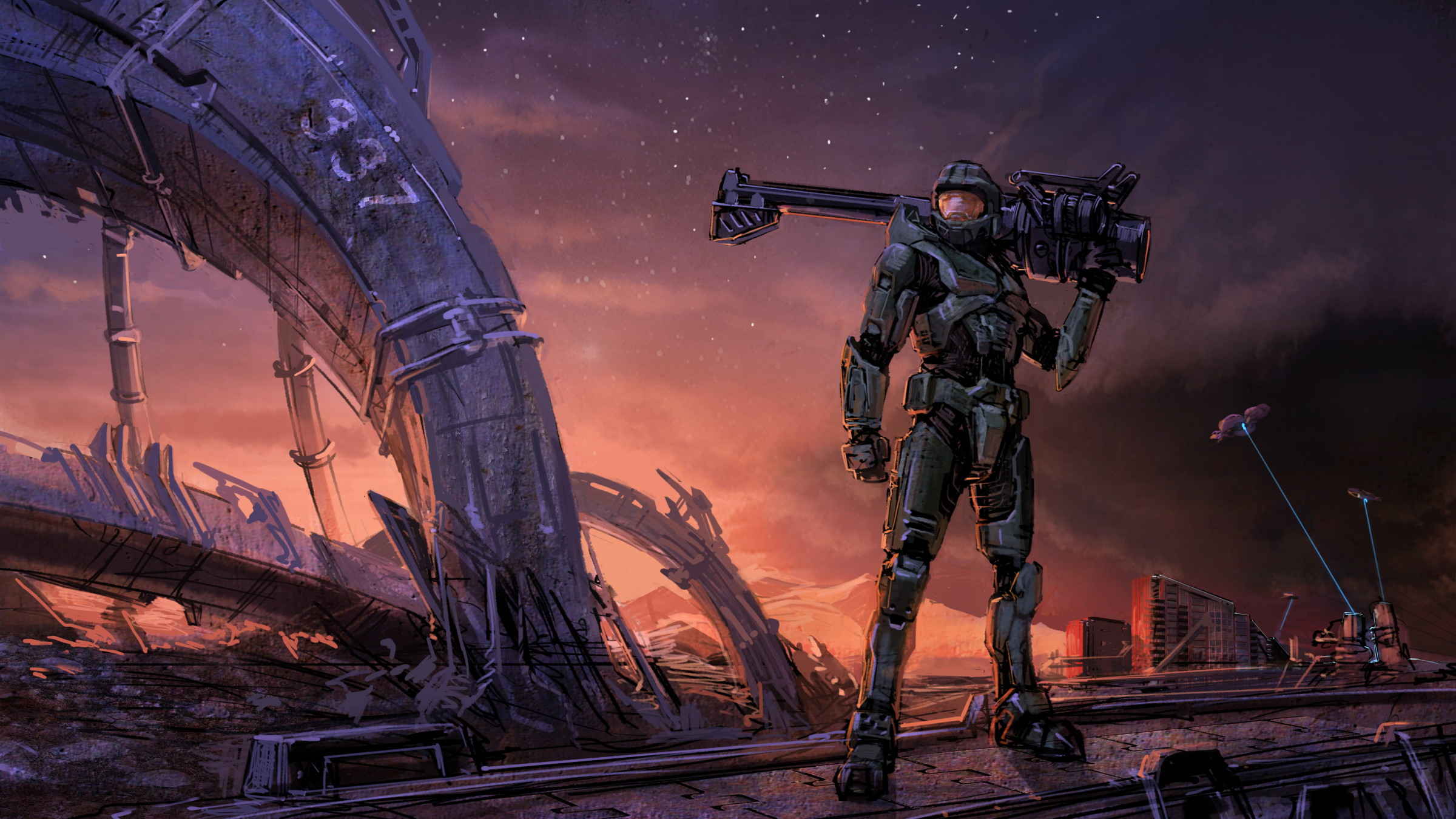 video games suit halo HD Wallpaper
