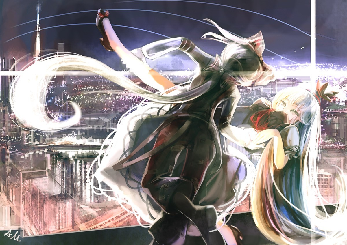 video games touhou cityscapes HD Wallpaper