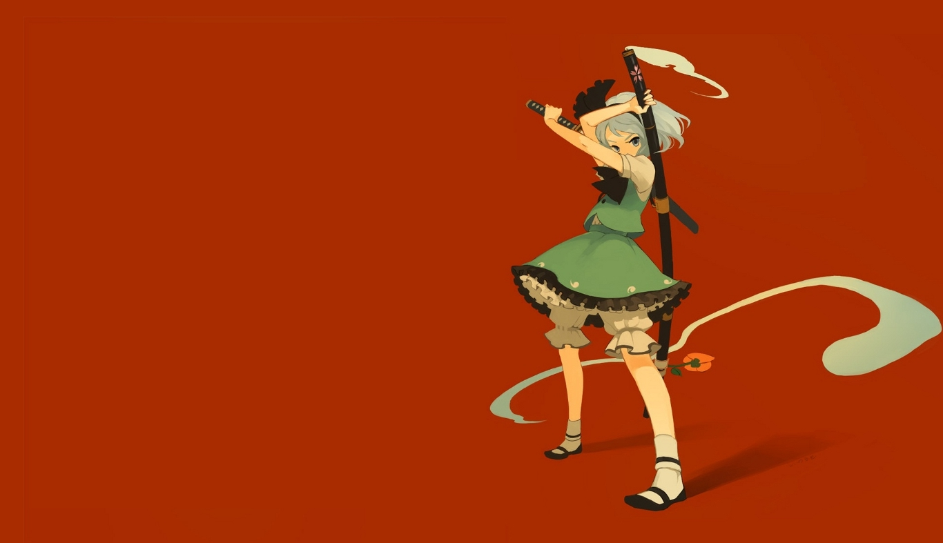 video games touhou Flowers HD Wallpaper